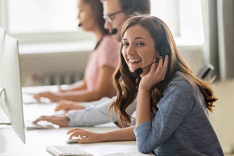 Call Center Employee Female